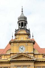 Restaurierter Kupferhelm / Kupferturm vom Koliner Schloss - Turmuhr.