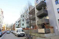Wohnungsneubau auf Hamburg St. Pauli - Lincolnstrasse .