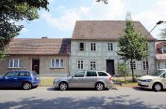 Historische Architektur - Fachwerkfassade, Wohnhäuser in Rheinsberg.