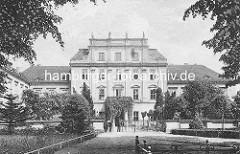 Historische Darstellung vom Schloss Oranienburg - das älsteste Barockschloss in der Brandenburg. In der Regierungszeit Friedrichs III./I. (1688 – 1713) wurde Oranienburg eine der bedeutendsten Schloss- , Garten- und Stadtanlagen in der Mark Bran