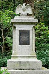 Gedenkstein an die Gefallenen des Brandenburgischen Jäger-Bataillon Nr. 3 in Lübben ( Spreewald )