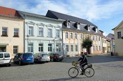 Einstöckige Wohnhäuser - Gründerzeitarchitektur, Lübbenau / Spreewald.