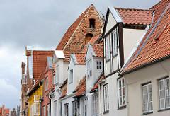 Hausgiebel und Dacherker in Lübeck.