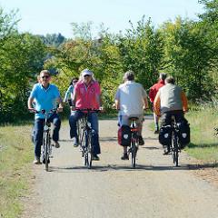 Fahrradweg am Wasser - Spreewald Rad Route von Lübben nach Schlepzig.