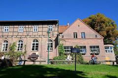 Industriearchitektur - Ziegelgebäude; Spreewaldbrauerei in  Schlepzig.