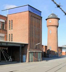 Industriewasserturm - Hafenstrasse in Lübeck.