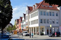 Wohnhäuser / Geschäftshäuser, Hauptstrasse / Am Markt von Lübben ( Spreewald).