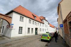 Rückseite vom St. Annenkloster in Lübeck - Wirtschaftsgebäude An der Mauer.