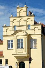 Fassade der alten Pumpstation an der Hauptspree in Lübben / Spreewald.