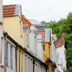 Dacherker - Wohnhäuser in der Hansestadt Lübeck- Weberstrasse.
