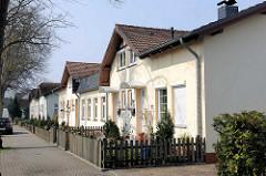 Reihenhäuser, Arbeiterwohnungen in Herrenwyk, Lübeck.