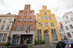 Backsteingebäude mit Teppengiebel - Jahreszahl 1659 auf der Fassade; Architekturbilder aus der Hansestadt Lübeck.