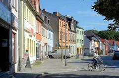 Wohnhäuser - bunte Fassaden, Gubener Straße / Lübben (Spreewald).