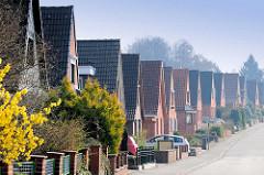 Einzelhäuser mit Satteldach in Lübeck Kücknitz.