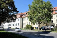 Rückseite vom Ständischen Landhaus in Lübben ( Spreewald ), einstiger Sitz der Niederlausitzer Landstände.