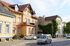 Gewerbegebäude, gelbe Ziegelfassade - Molkerei Spreewald Lübbenau.