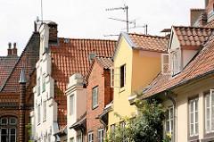 Hausgiebel - Dachfenster, Erker; Wohnhäuser in der Hansestadt Lübeck.