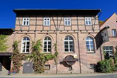 Industriearchitektur - Backsteingebäude; Spreewaldbrauerei in  Schlepzig.
