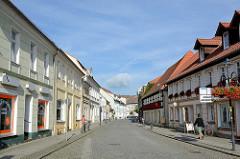 Geschäftsstrasse in Lübbenau / Spreewald - Ehm-Welk-Straße.