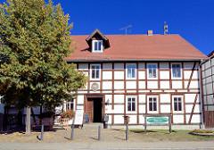 Historisches Mühlengebäude - Fachwerkarchitektur von 1740 in Schlepzig / Spreewald.