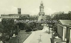 Historische Ansicht vom Kaisertrutz und dem  Reichenbacher Turm - alte Befestigungsanlagen in Görlitz.