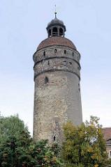 Reichenbacher Turm in der Altstadt von Görlitz, mit 49 Metern der höchste der drei erhaltenen Wach- und Wehrtürme von der Görlitzer Stadtbefestigung.