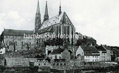 Altes Foto von der Pfarrkirche St. Peter und Paul in Görlitz.