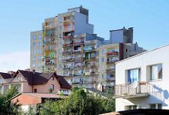 Wohnhäuser, Plattenbau in Zgorzelec.