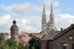 Kirchtürme der St. Peter und Paul Kirche in Görlitz, Kuppel vom Reichenbacher Turm.