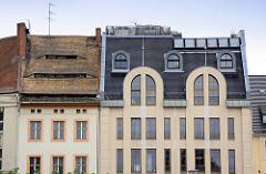 Unterschiedliche Architekturstile / Fassaden und Dachformen; Architekturbilder aus Görlitz.