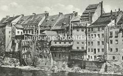 Altes Bild von der Uferbebauung an der Neiße in Görlitz.