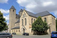 St. Moritz Kirche in Halberstadt, erbaut um 1246 - dreischiffige Pfeilerbasilika;
