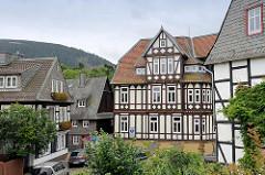 Fachwerkgebäude am Frankenberger Plan in Goslar.