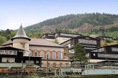 Gebäude / Bergwerksanlage am Rammelsberg in Goslar - jetzt Besucherbergwerk / Museum.