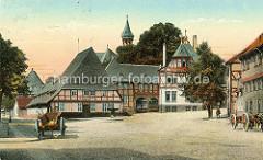 Altes Motiv vom Frankerberger Plan - historischer Platz in Goslar beim Hospital Kleines Heiliges Kreuz, 1394 erstmalig erwähnt.