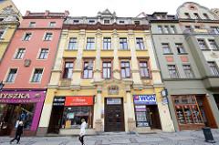 Historische Wohnhäuser - Geschäftshäuser in Świdnica / Schweidnitz.