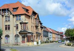 Villenviertel in Blankenburg / Harz; freistehende Villa aus der Gründerzeit.