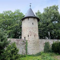 Wehrturm - Befestigungsanlage / Stadtmauer von Wernigerode - Halbschalenturm.