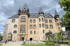 Schloss Wernigerode - Ende des 19. Jahrhunderts im Baustil des norddeutschen Historismus neu aufgebaut.
