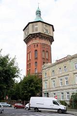 Alter Wasserturm in Świdnica / Schweidnitz .
