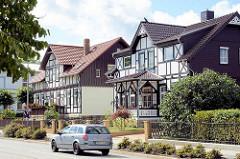 Villenviertel in Blankenburg / Harz; Fachwerk-Villa aus der Gründerzeit.