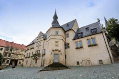 Rathaus von Blankenburg / Harz - Ursprungsbau von 1233, jetziger Bau aus dem 17. Jahrhundert.
