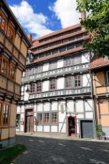 Mehrgeschossige Fachwerkgebäude - Hoher Weg, Halberstadt.