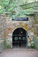 Bergwerkseingang am Rammelsberg in Goslar - jetzt Besucherbergwerk / Museum.