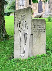Klostergelände Frankenberg in Goslar - Steininschrift Jesus lebt,  mit ihm auch ich - Tod wo sind nun deine Schrecken.