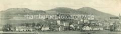 Historisches Panorama von Striegau / Strzegom.
