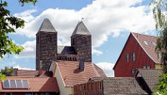 Dächer von Halberstadt - Kirchtürme der St. Moritz Kirche.