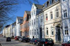 Klassizistische Gebäude in der Palmaille im Hamburger Stadtteil Altona Altstadt.