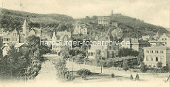 Blankenburg / Harz, historisch - damals; Blick auf das Villenviertel der Stadt.