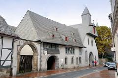 Gebäude Großes Heiliges Kreuz am Hohen Weg in Goslar; errichtet 1254 als Hospiz.